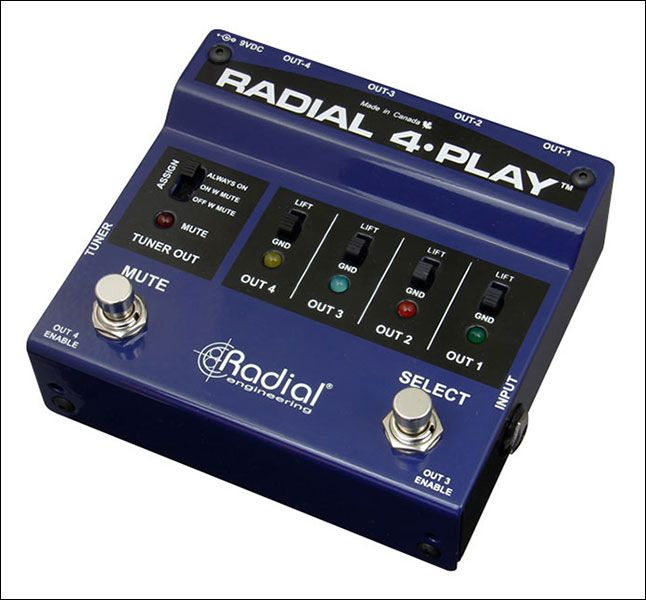 RADIAL 4 Play multi channel direct box