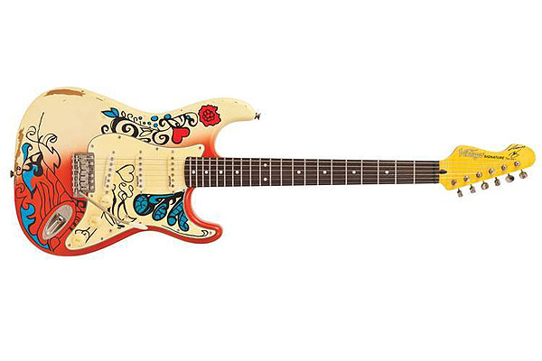 VINTAGE V6MRHDX Thomas Blug Summer Of Love Strat *WITH FREE BONUS PACK*