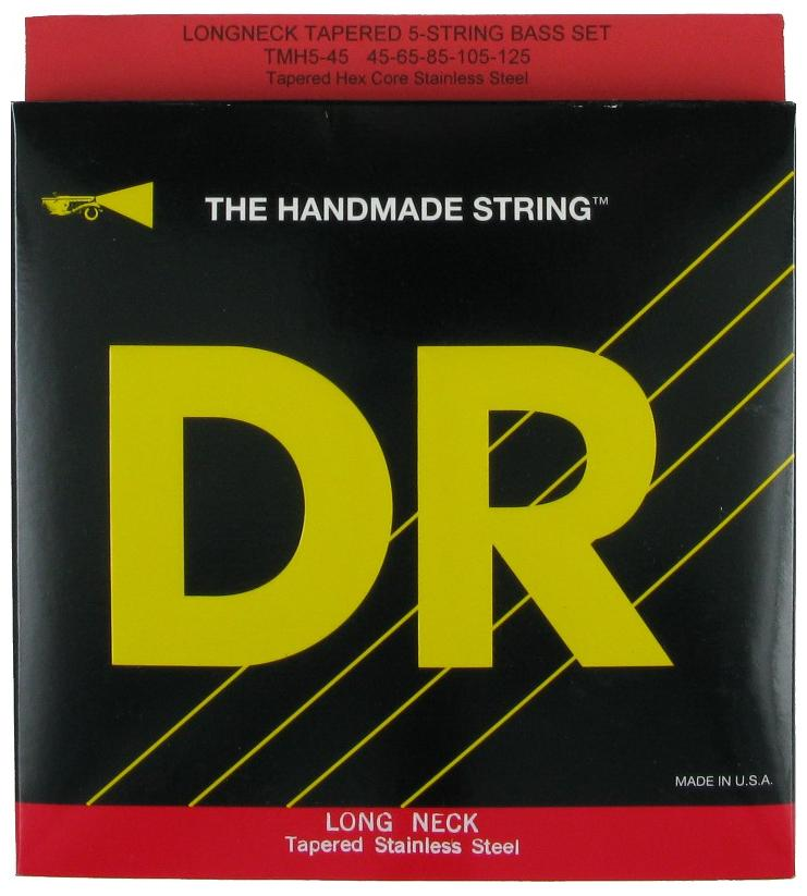 DR Strings Electric Bass - Hi Beam Taper-Core TMH5-45 Extra long scale 35""