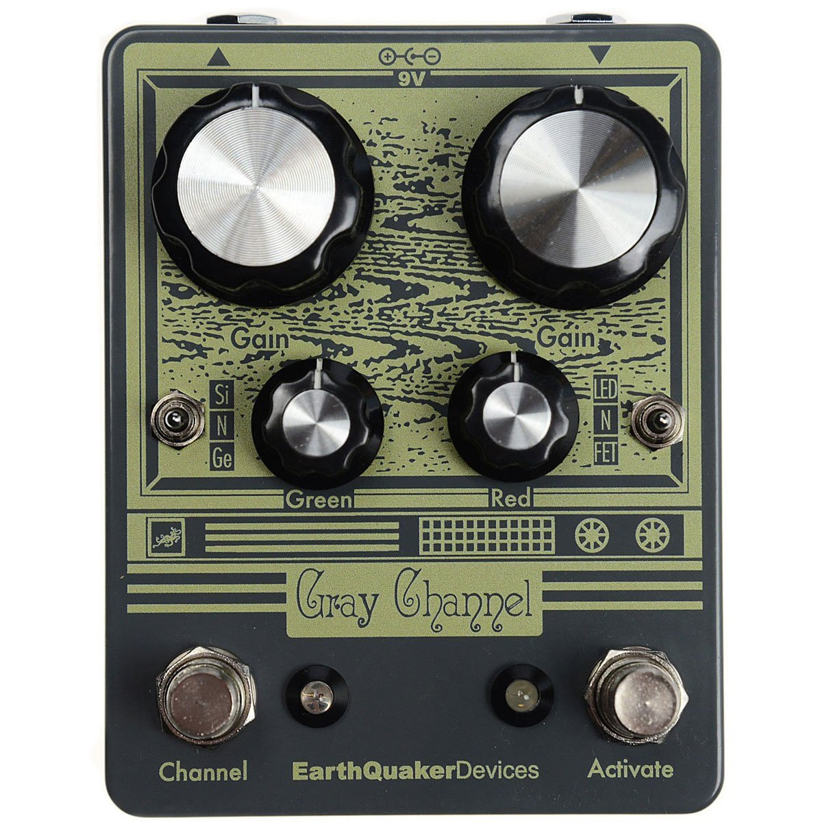 EARTHQUAKER Gray Channel overdrive pedal