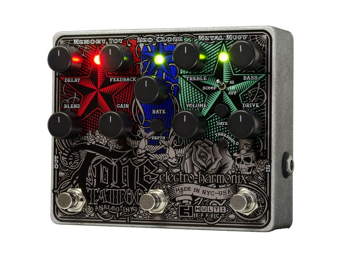EH Electro-Harmonix Tone Tattoo Multi-Effects Guitar Pedal