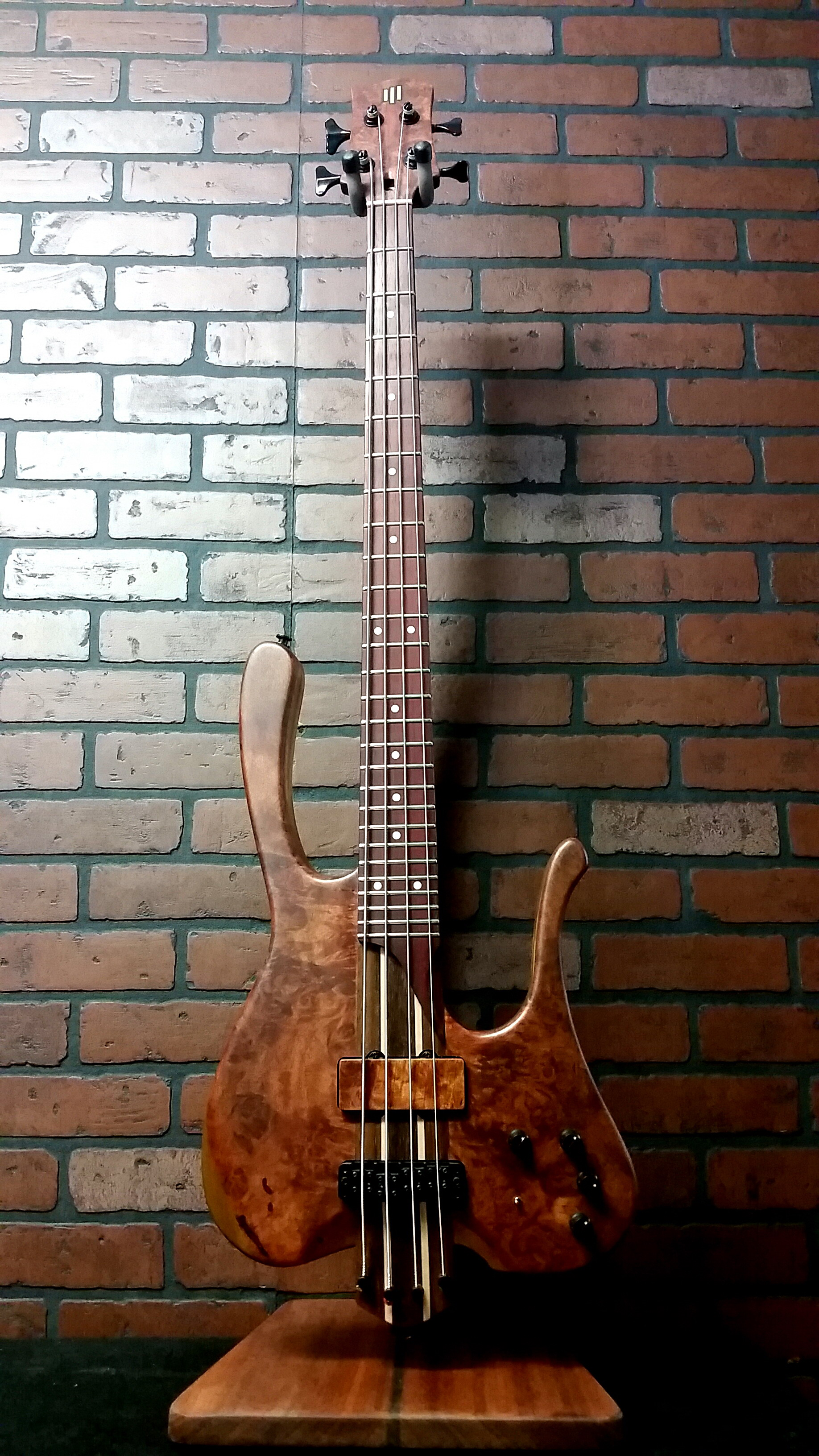 ELEGEE Custom Four Exotic Wood bass