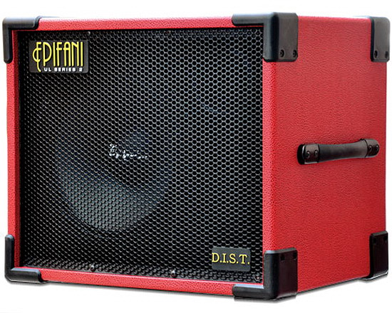 Epifani UL DIST 112 Red Bass Cabinet - Selectable 8 or 4 Ohms