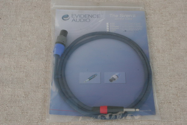 "Evidence Audio Siren Speaker Cable 1/4"" to Speakon 5'"