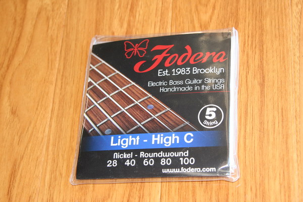 Fodera Bass Strings- 5 String Light-High C Nickel