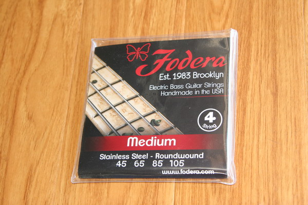 Fodera Bass Strings- 4 String Medium Stainless