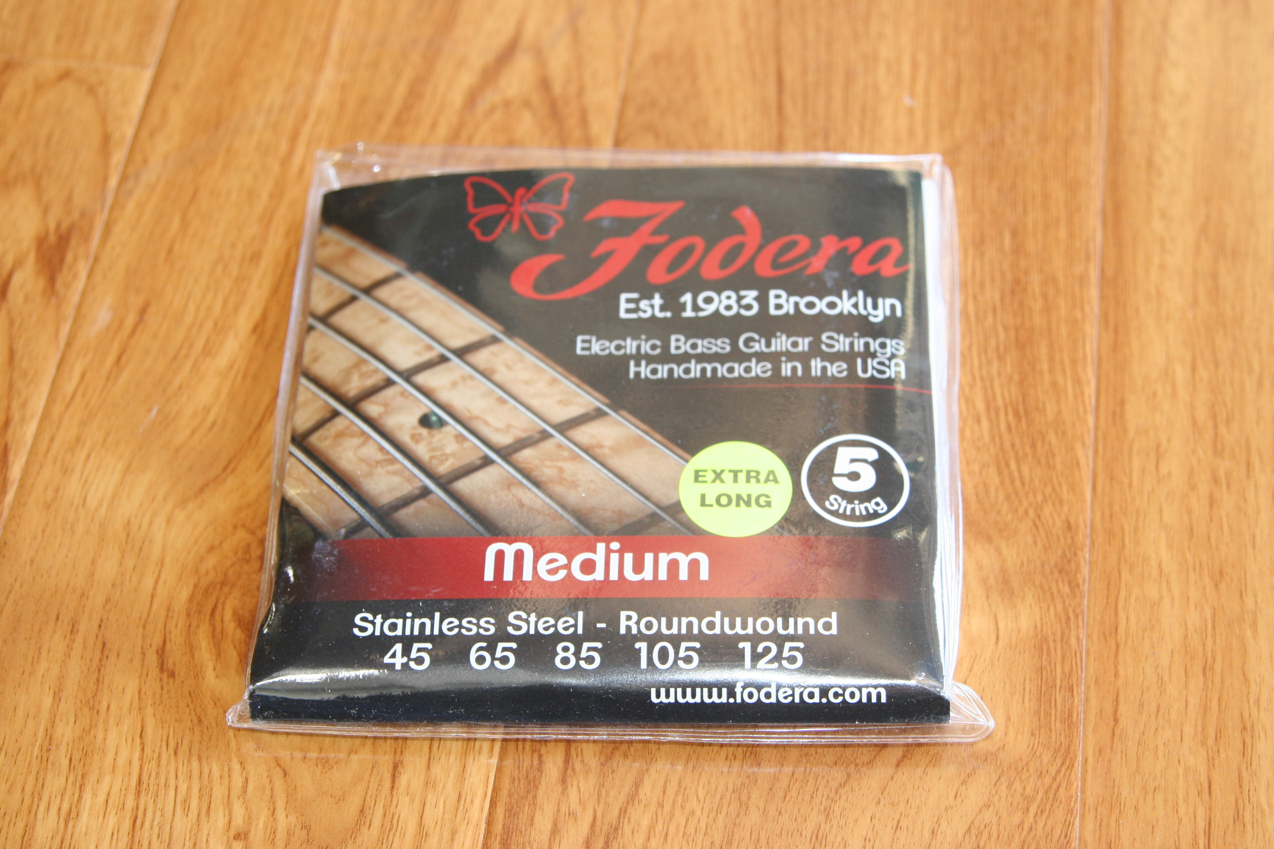 Fodera Bass Strings- 5 String Medium Stainless Extra Long