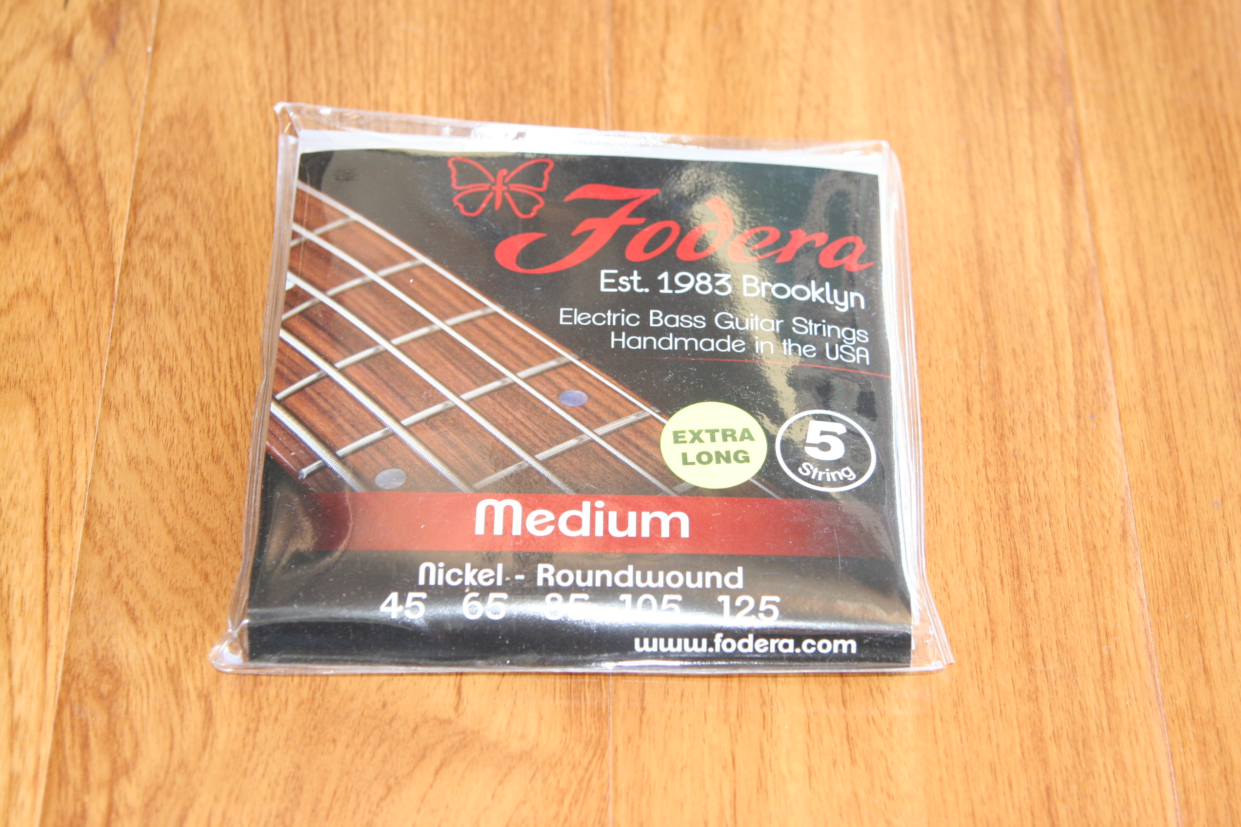 Fodera Bass Strings- 5 String Medium Nickel Extra Long