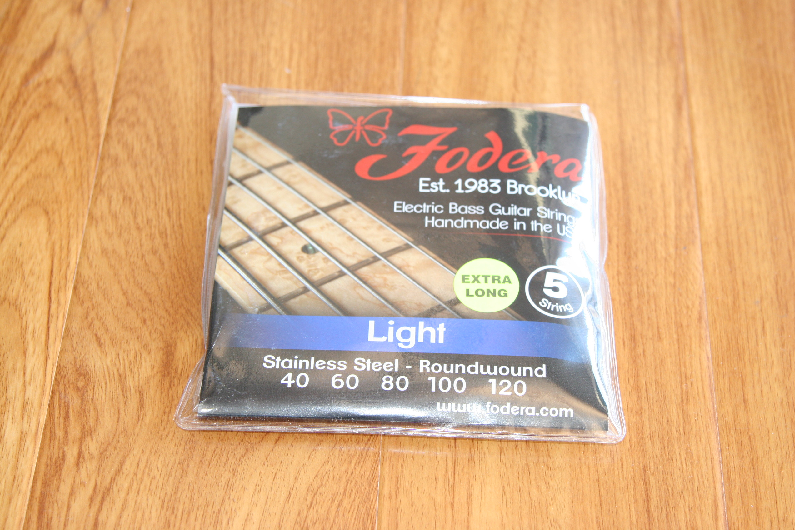 Fodera Bass Strings- 5 String Light Stainless Extra Long