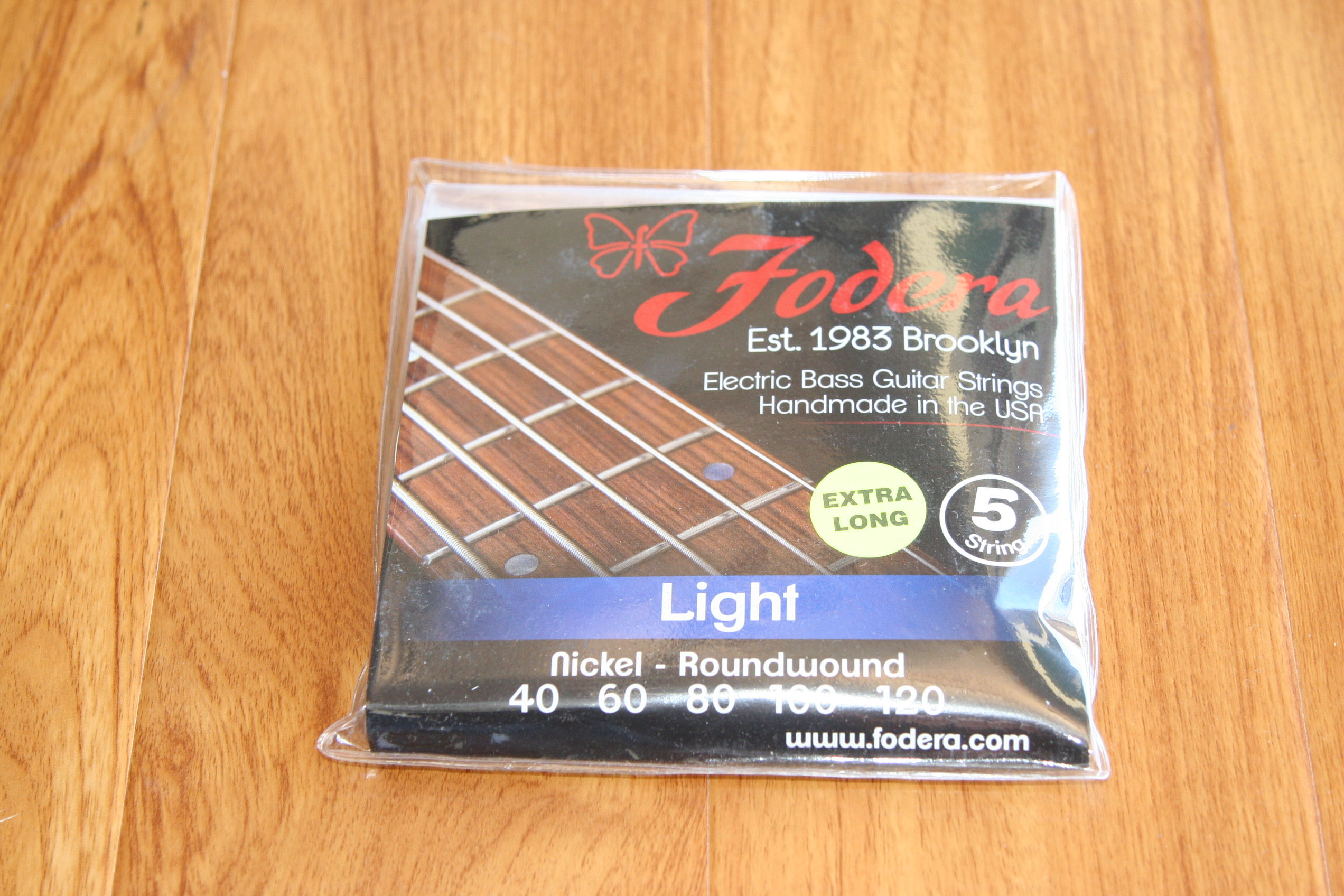 Fodera Bass Strings- 5 String Light Nickel Extra Long