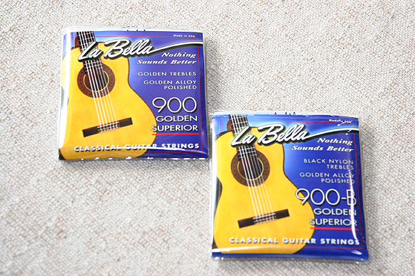 La Bella Golden Superior 900 Gold Alloy Nylon Guitar Strings