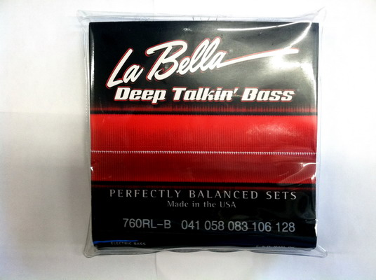 La Bella 760 RL-B 5 String Bass Set 41-128