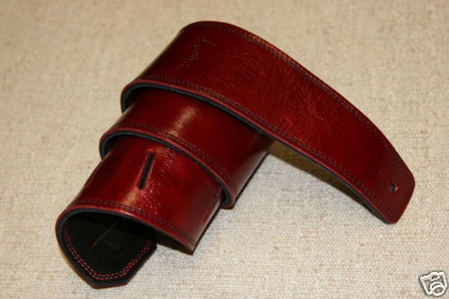 "Moody 2.5"" Ruby Red/Black Leather Standard Tail"