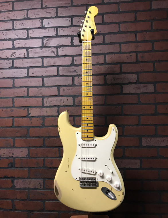 NASH S-57 Strat-style guitar in distressed creme