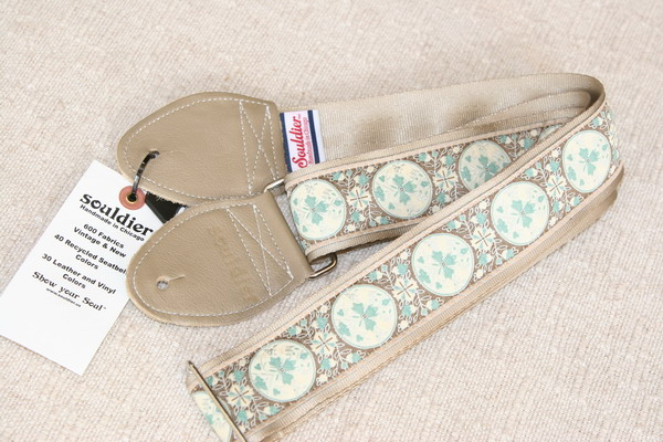 Souldier Guitar Strap GS0081 Medallion Taupe