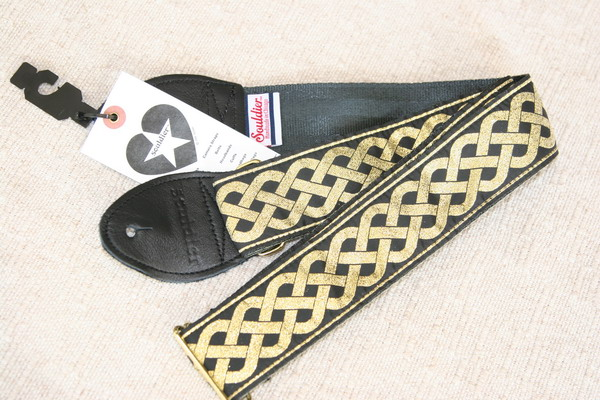 Souldier Guitar Strap GS0058 Celtic Knot Gold