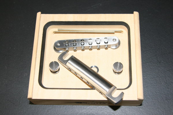 TiSonix Titanium Les Paul Lock-in Tail Piece/Bridge Set