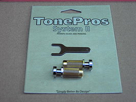 SCM1-C - TonePros Guitar Locking Studs - Metric - Chrome.