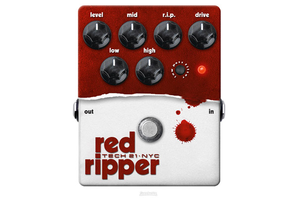 Tech 21 Red Ripper Bass Distortion