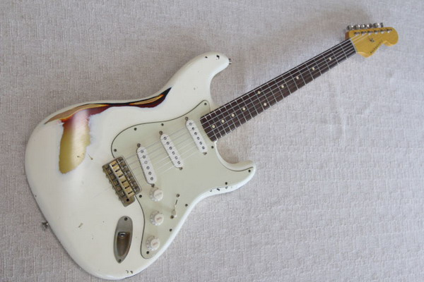 NASH S63 Strat distressed Olympic White