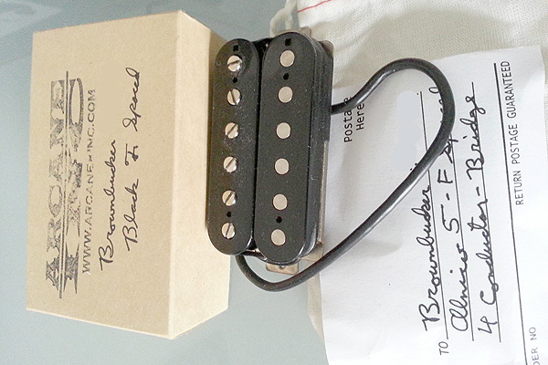 Arcane Inc Pickups Brownbucker Humbucker Bridge Black