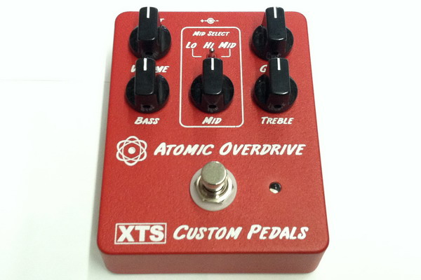XTS Custom Pedals Red Atomic Overdrive Pedal