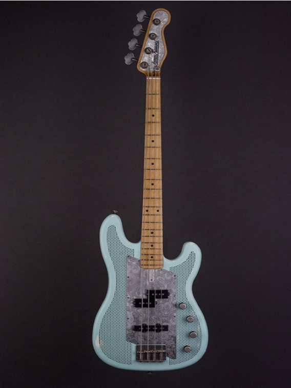 JAMES TRUSSART Ocean Blue Paisley SteelCaster bass