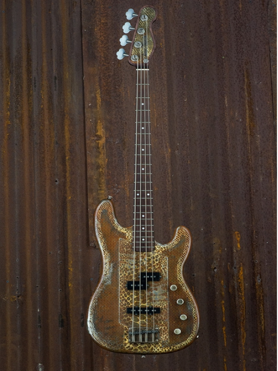 JAMES TRUSSART Rusty Snakeskin SteelCaster bass