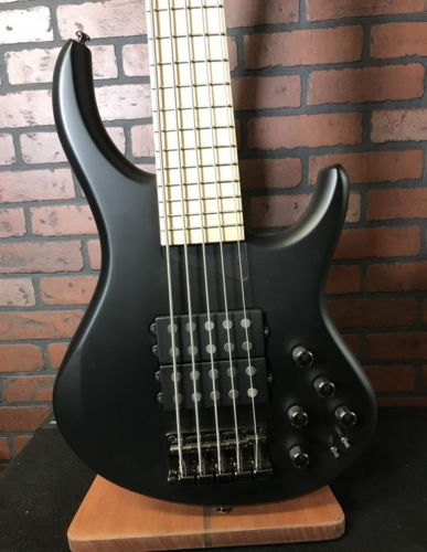 MTD Super 5 five string bass Black Satin