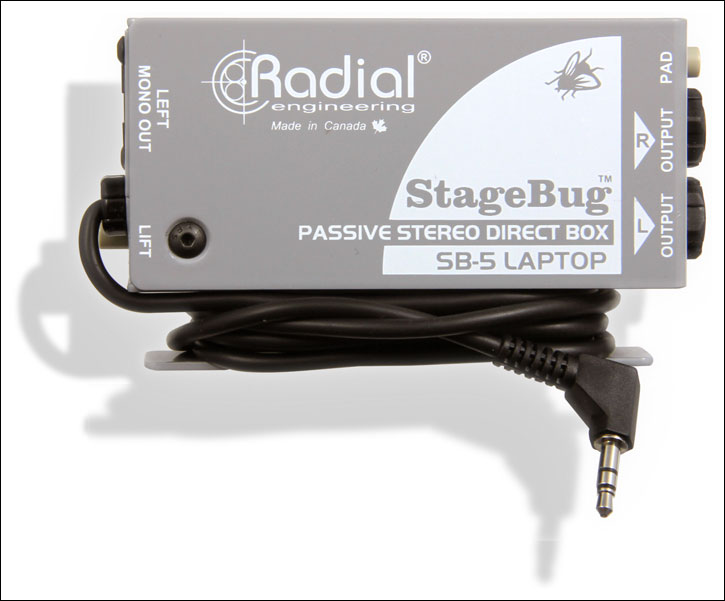 RADIAL Stage Bug SB5 laptop direct box