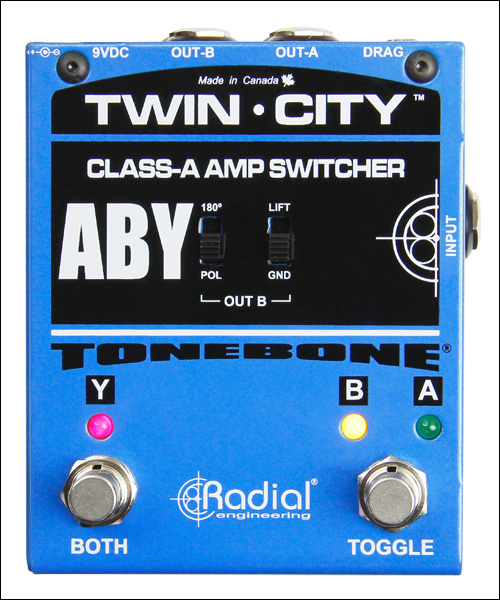 RADIAL Tonebone Twin City amp switcher